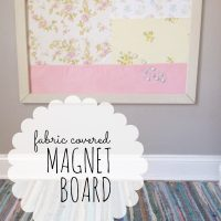 Make your own Fabric Covered Magnet Board   FarmhouseMade.com