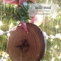 Rustic Wood Christmas Ornament