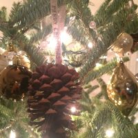 Rustic Christmas Pinecone Ornament