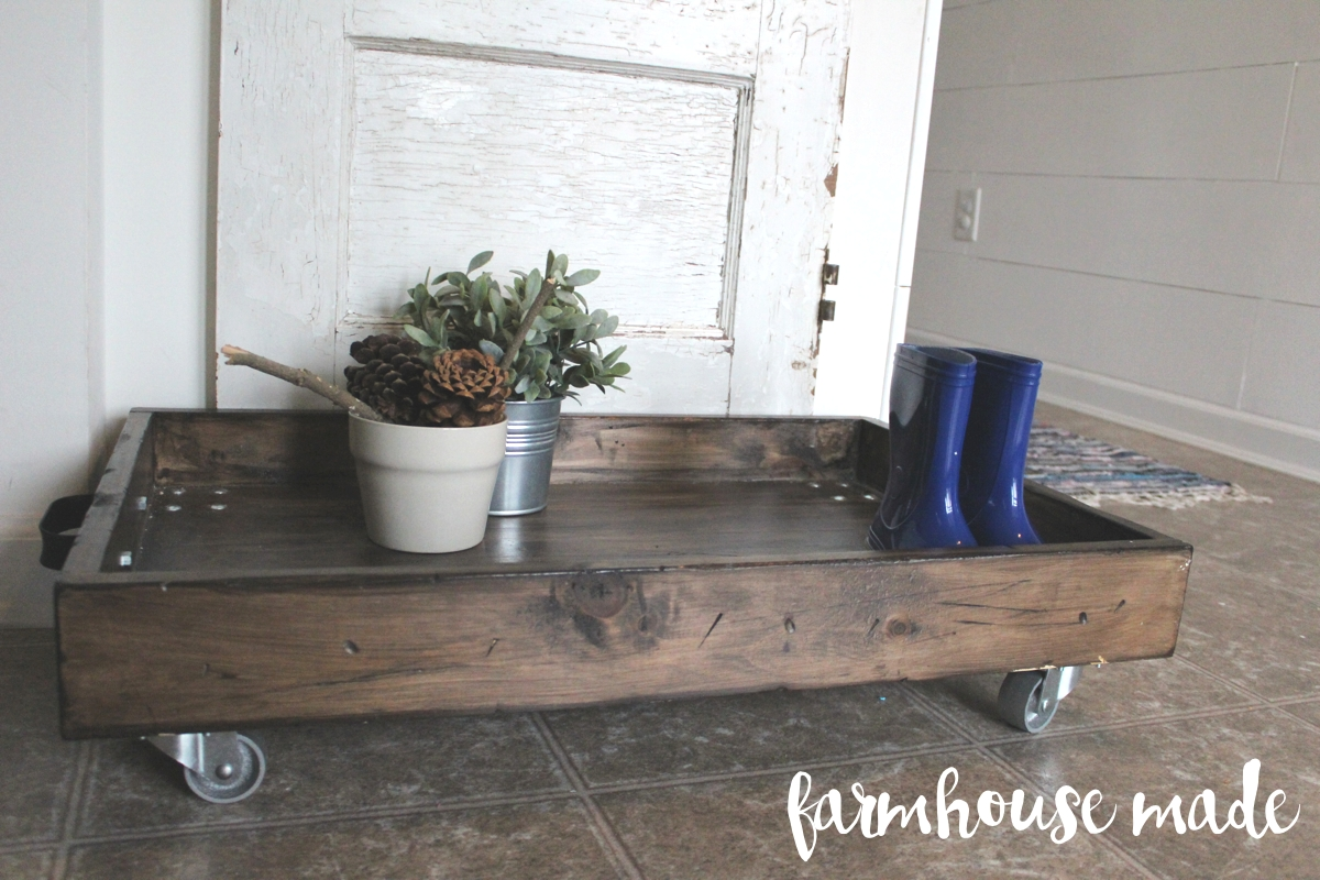 DIY Shoe Rack - Magnolia Boot Tray