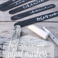 This is such a simple project to make these DIY Plant markers using chalkboard paint or ChalkAnything and some chalk markers! Gotta love craft sticks too!