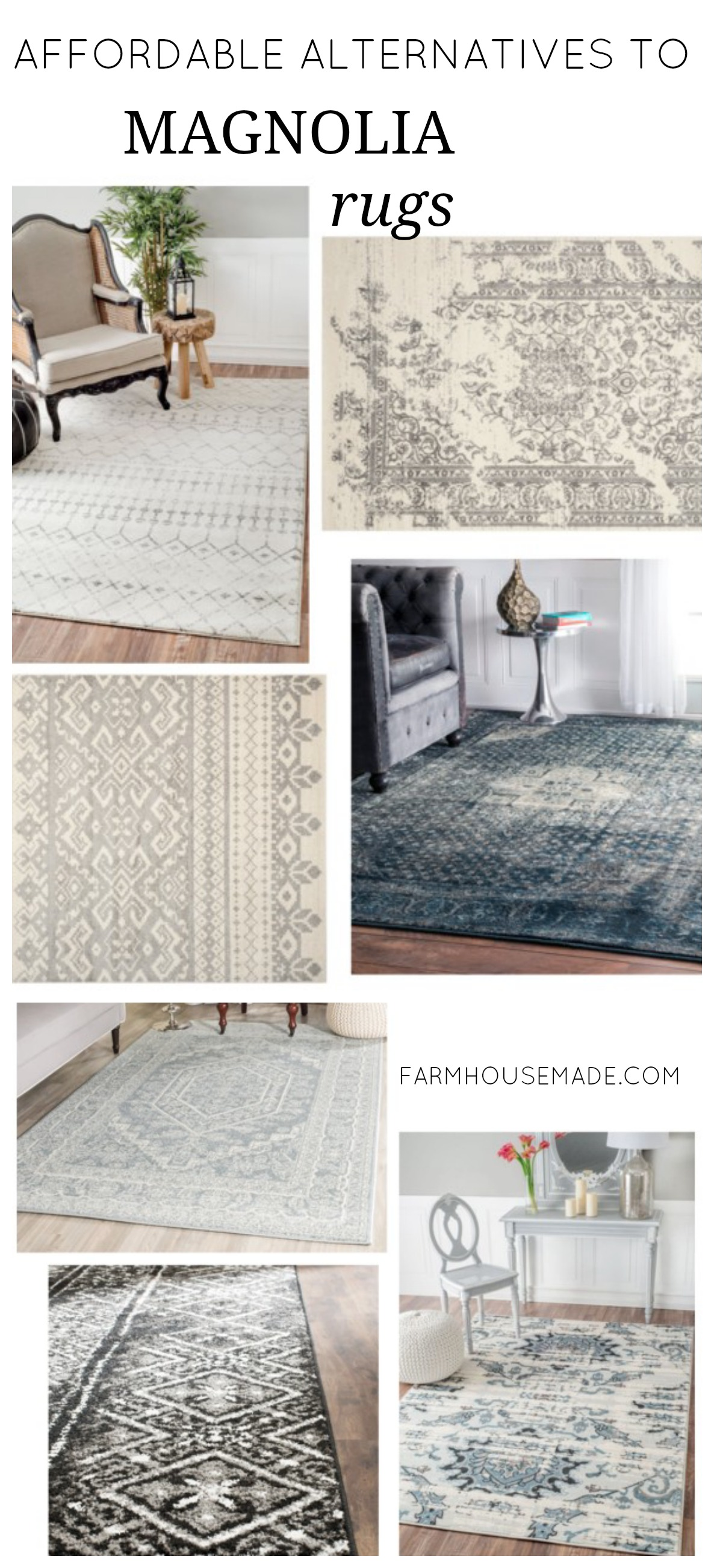 What to do when you can 39 t afford joanna 39 s rugs farmhouse for Farmhouse style kitchen rugs