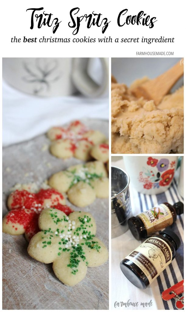 Making Spritz Cookies for Christmas Cookie exchanges? Check out this bloggers' super secret tip and secret ingredient to get the best spritz cookies ever!
