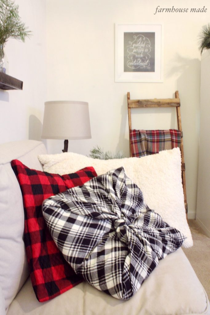 This blanket scarf is so easy and makes an awesome pillow cover!