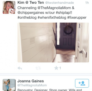 Joanna Gaines is a fan of my adding character to your home! It's like the mother ship made contact, add that shiplap!