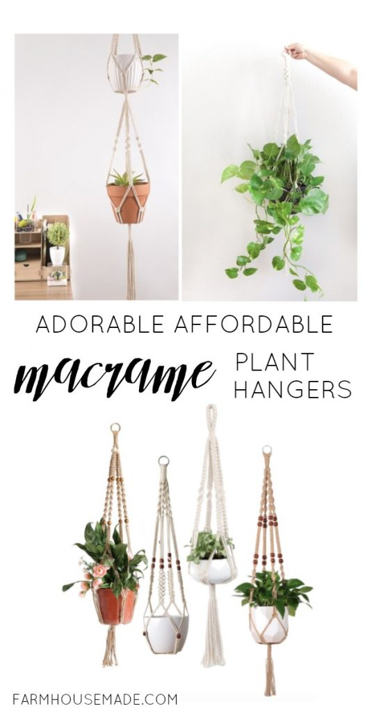 These are a few of my favorite Macrame Plant Hangers. I love the farmhouse rustic boho vibe of these cuties! Especially #5!!