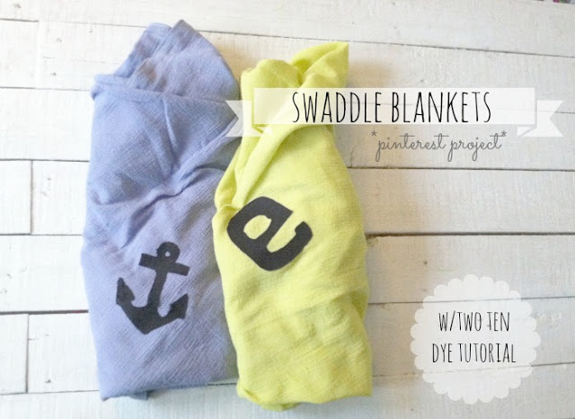 Dyed & Personalized Swaddle Blankets w/Tutorial