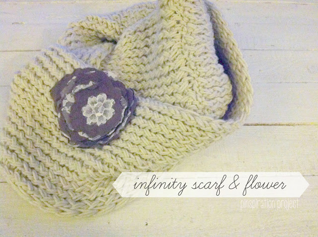 Knit Your Own Infinity Scarf with Flower