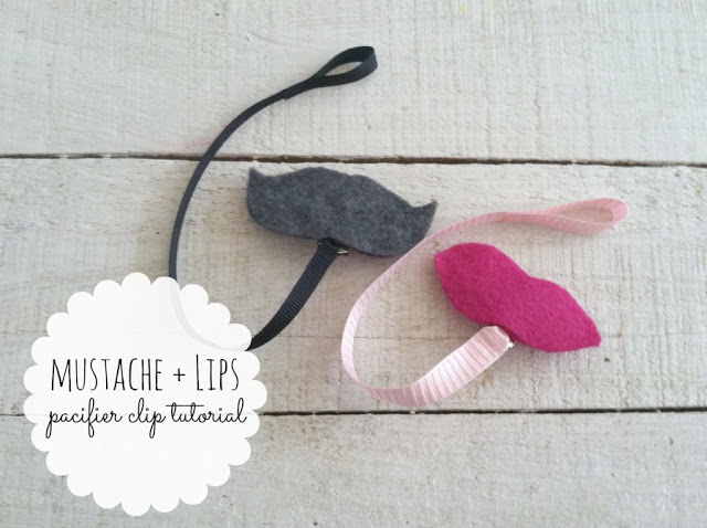 Mustache & Lips Pacifier Clip Tutorial