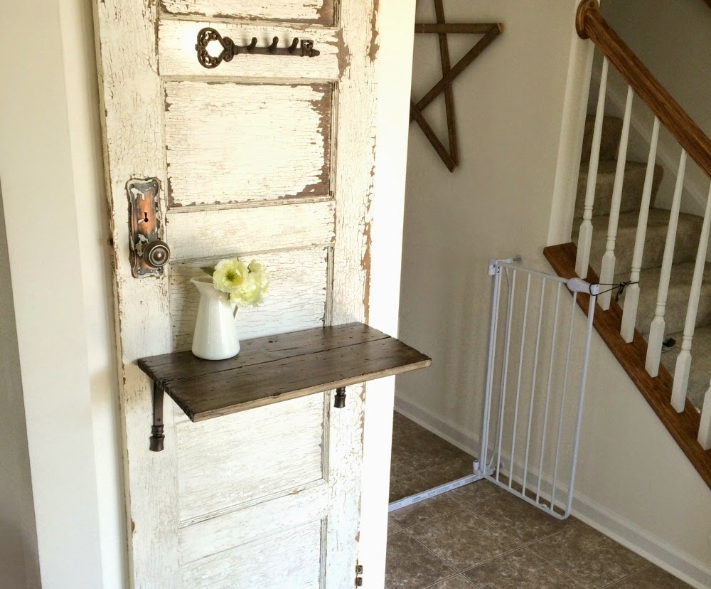 Antique Salvaged Door Entry Storage Solution Farmhouse Made