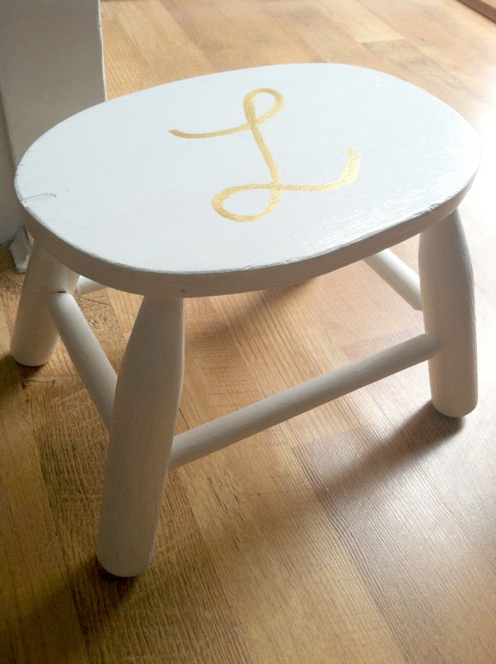 Gold Letter Step Stool Tutorial Farmhouse Made