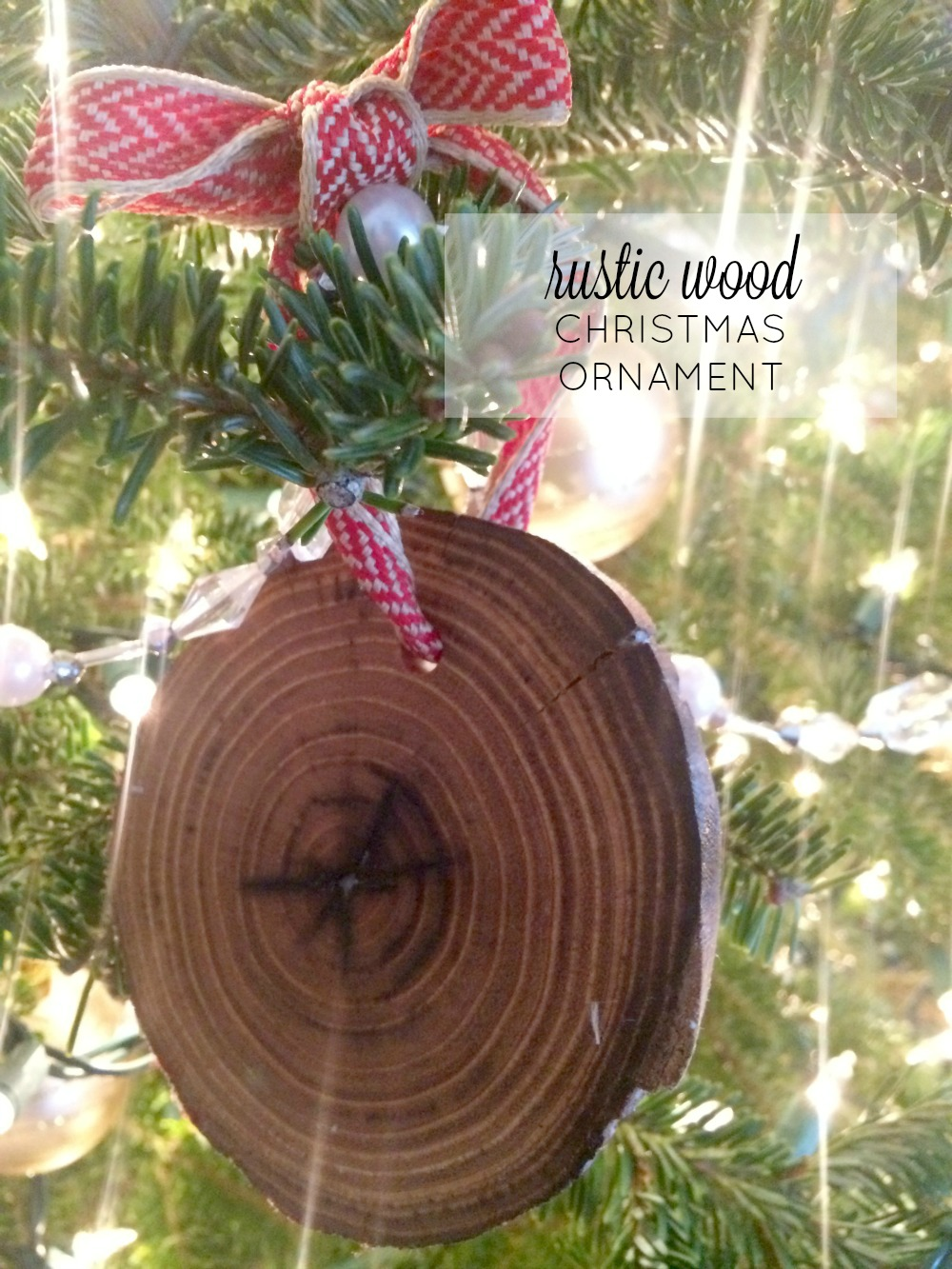 Rustic Wood Christmas Ornaments F A R M H O U S E M A D E