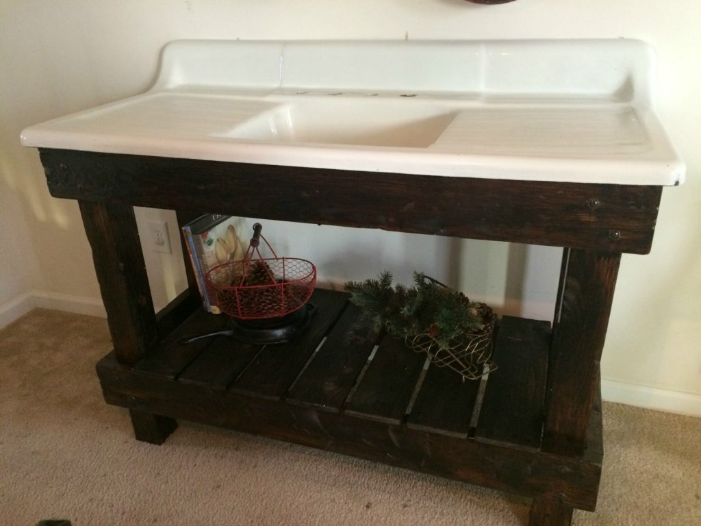 Our Antique Cast Iron Sink Project