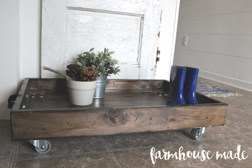 DIY Magnolia Boot Tray