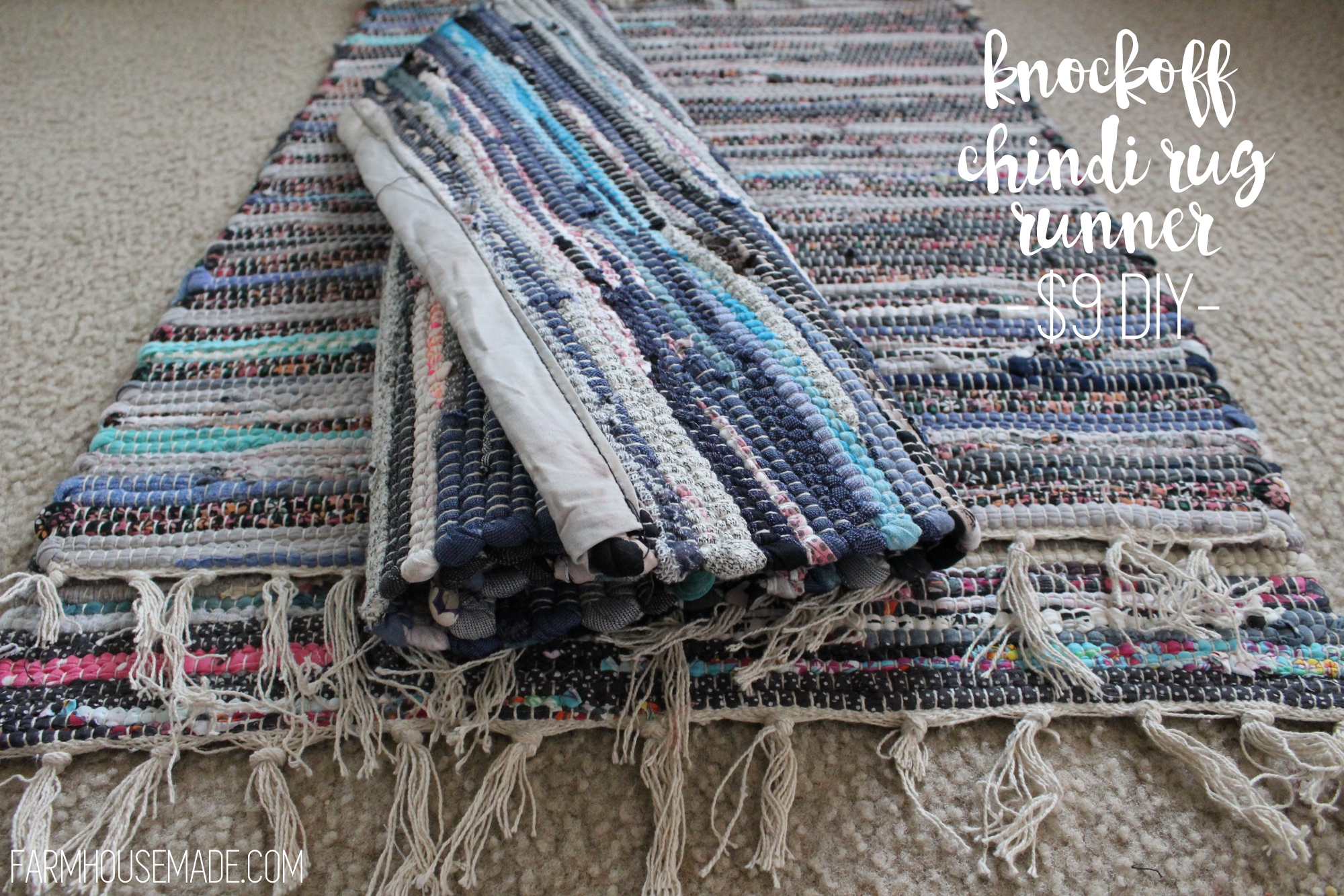 nice Chindi Runner Part - 1: DIY Knockoff Chindi Rug Runner