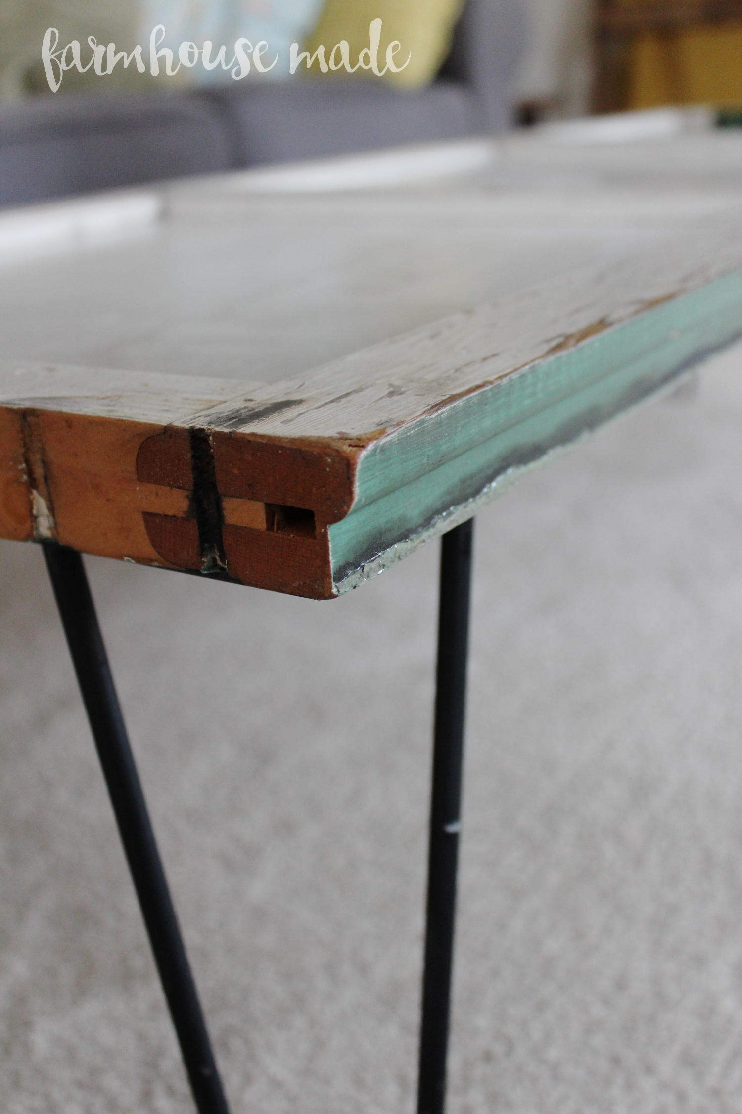 DIY Coffee Table Using a Salvaged Shutter Farmhouse Made