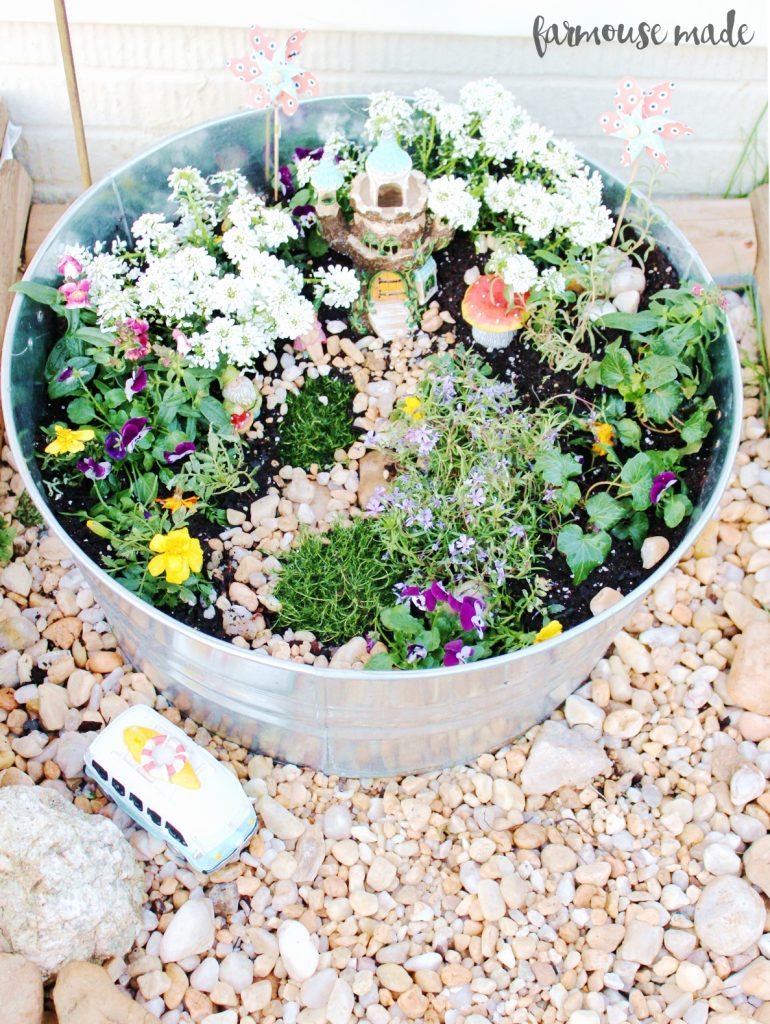 How to make your own stress-free fairy garden! It's so simple, and you'll absolutely love it!