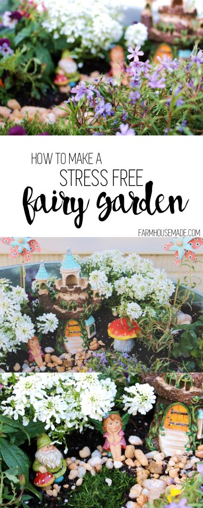 Look at this adorable fairy garden! No stress, you can absolutely make your own with affordable easy to care for plants - Perfect kiddo project!A