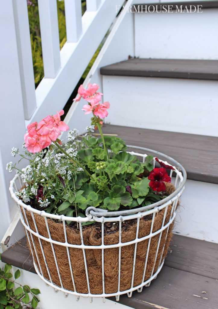 Farmhouse Porch - Egg Basket Planters