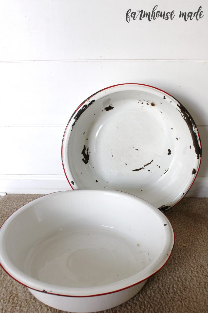 Enamel basins from an awesome barn sale!