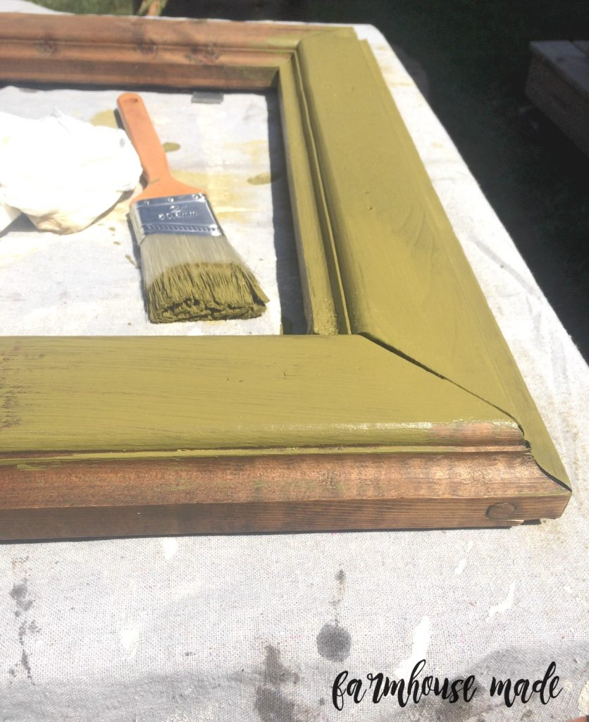 Chippy Farmhouse Mirror Makeover with Diva of DIY Chalk Mix!