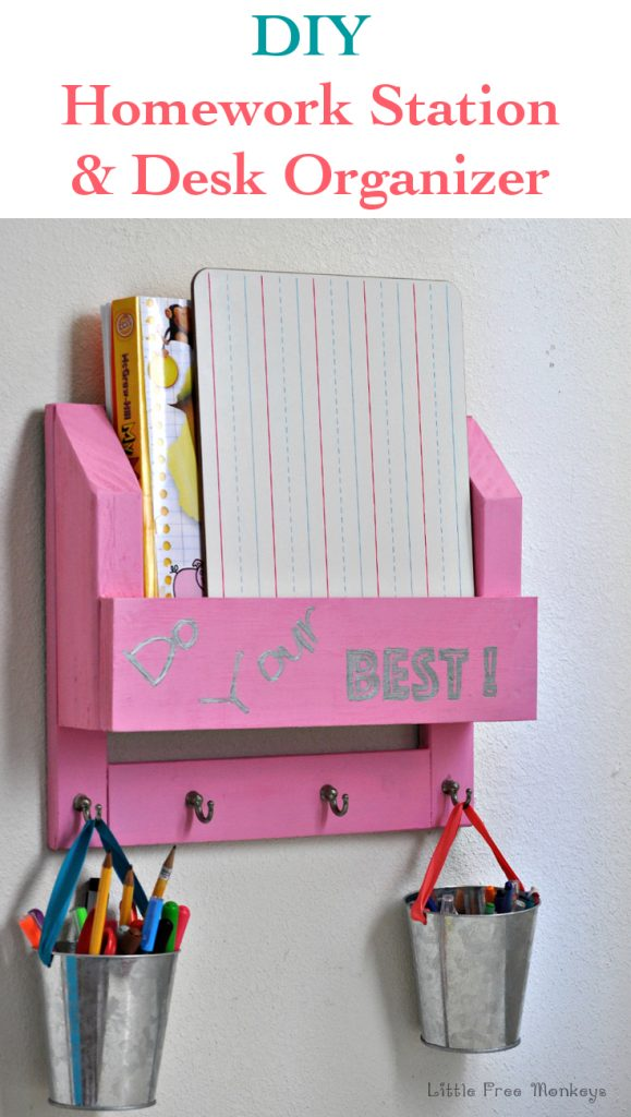Kids Homework and Desk Organizer
