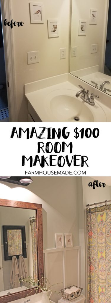 Look at this $100 room makeover! We added so much charm and character to this room!