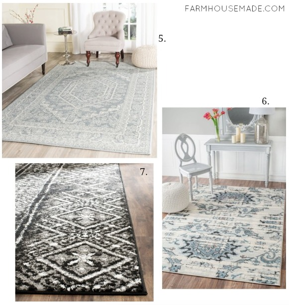 Don't freak out if you see the price tag on Joanna's rugs - these are affordable alternatives!