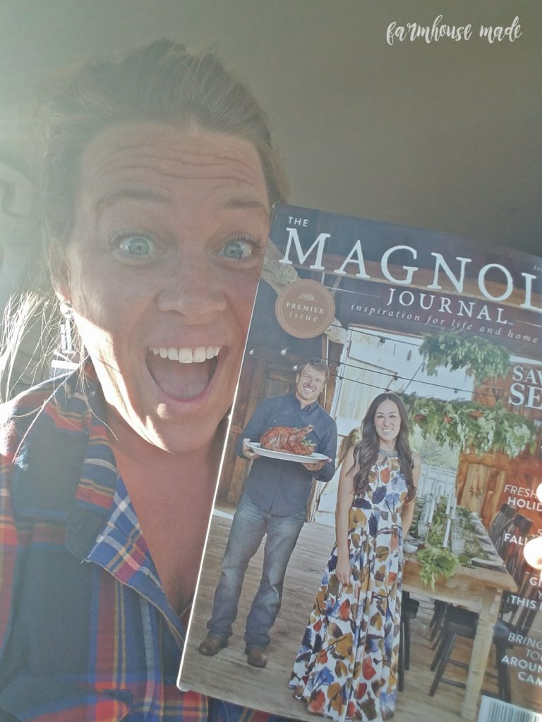 Freaking out in the BN kids treehouse over my ladder in the Farmgirl DIY magazine and I found a copy of Magnolia Journal!