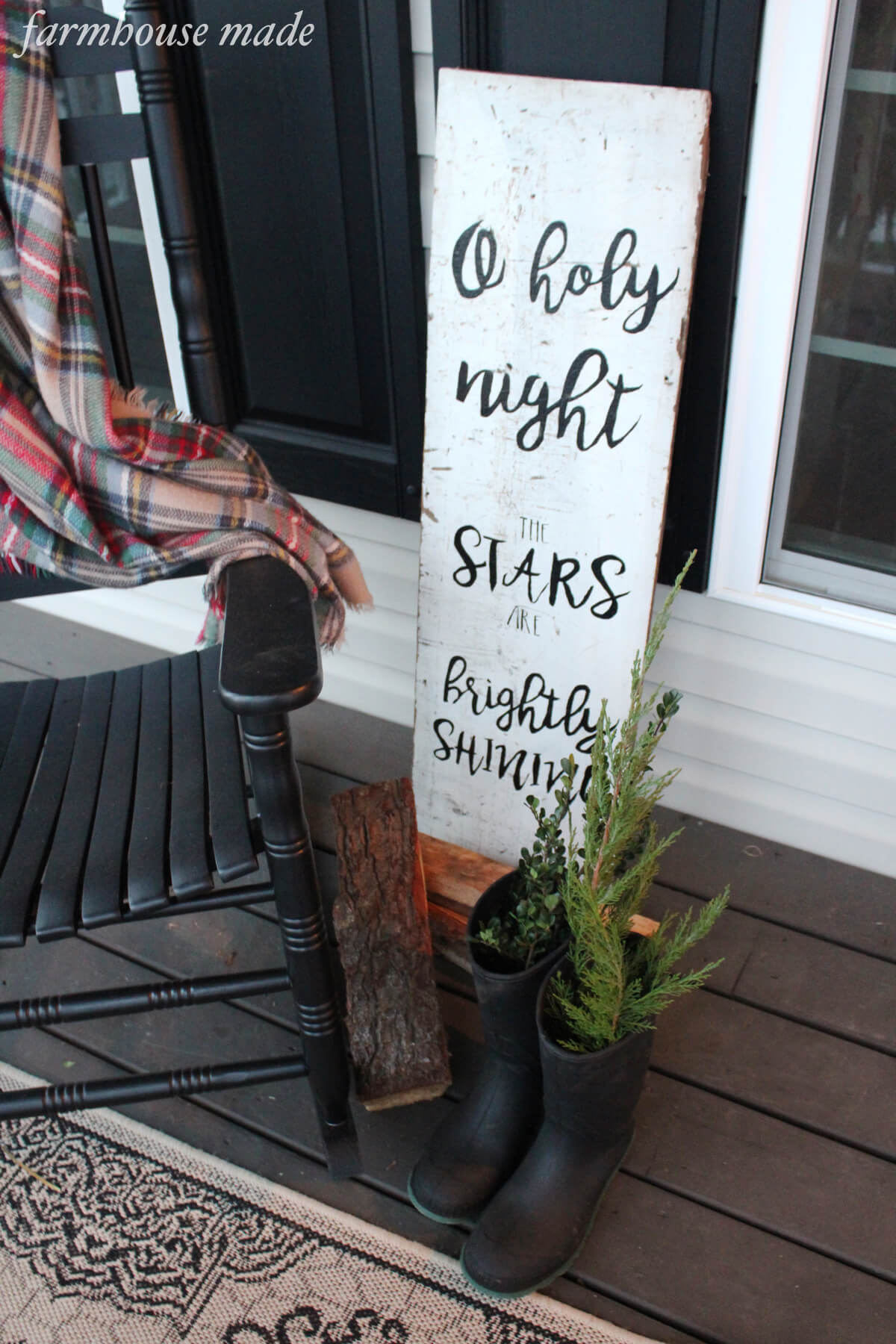 Hand Painted Wood Sign For Christmas Farmhouse Made