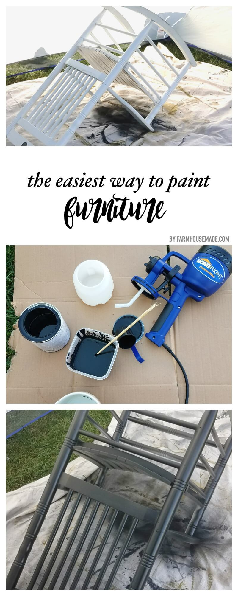 paint sprayer for furniturePainting Furniture the Easy Way  FARMHOUSE MADE