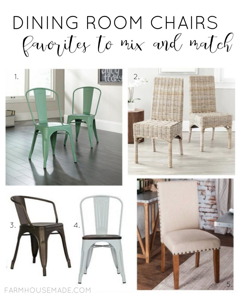These dining room chairs are perfect to mix and match!
