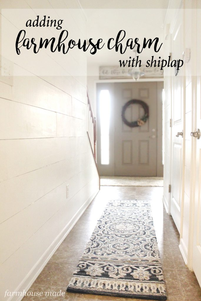 Add Character To Your Home With Shiplap Farmhouse Made