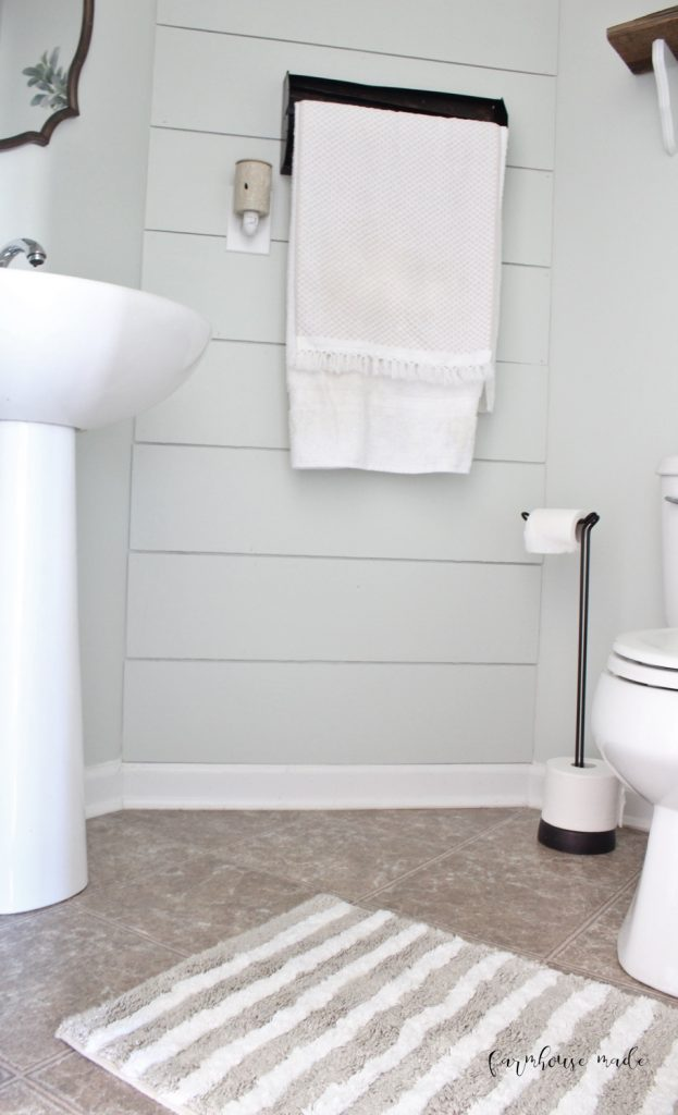 Farmhouse Style Powder Room 100 Room Makeover F A R M