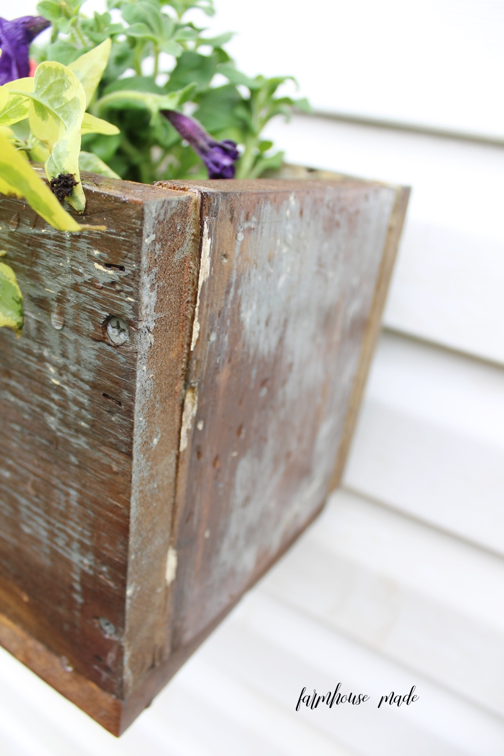 How To Hang A Window Box On Vinyl Siding Farmhouse Made
