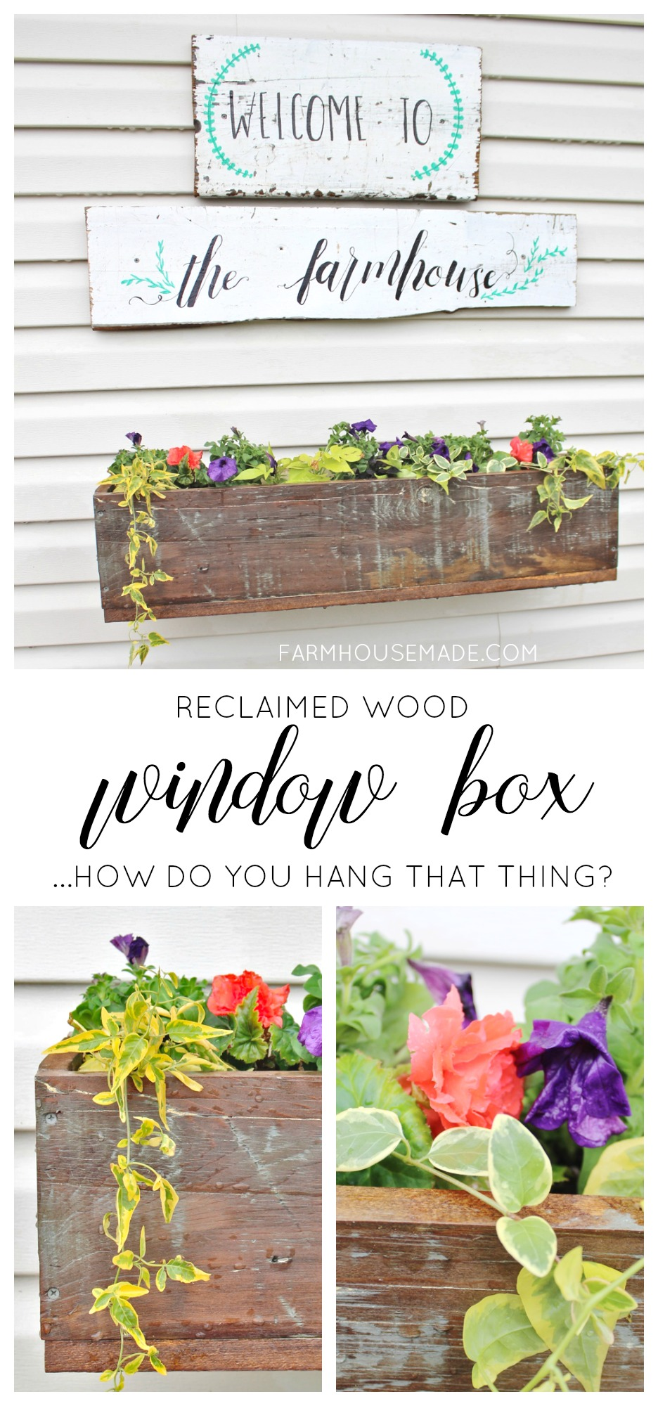 How To Make And Hang A Window Box On Vinyl Siding