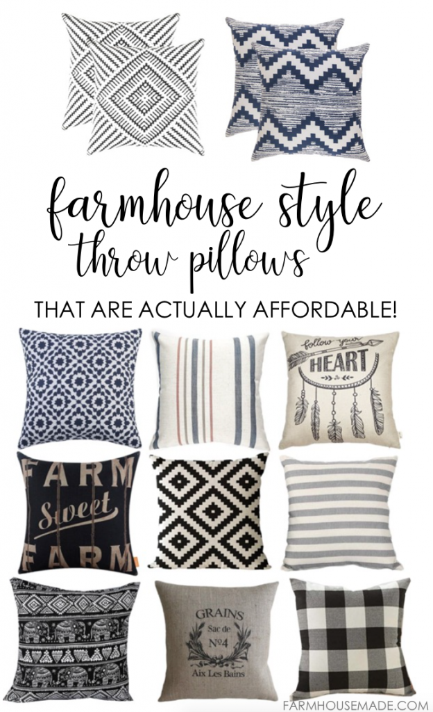 Farmhouse Style Throw Pillows That Are Actually Affordable