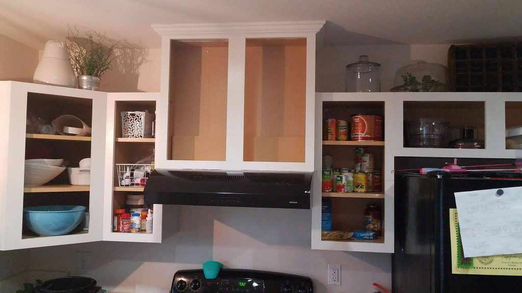 The Visual Clutter From Open Cabinets Not Fishing Rods Was Sending Me Over Edge So I Put Kitchen Back Together Gently In Evening