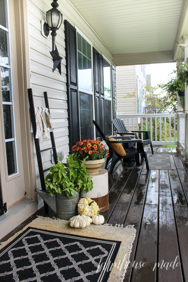 Farmhouse Style Fall Porch On A Budget F A R M H O U S E