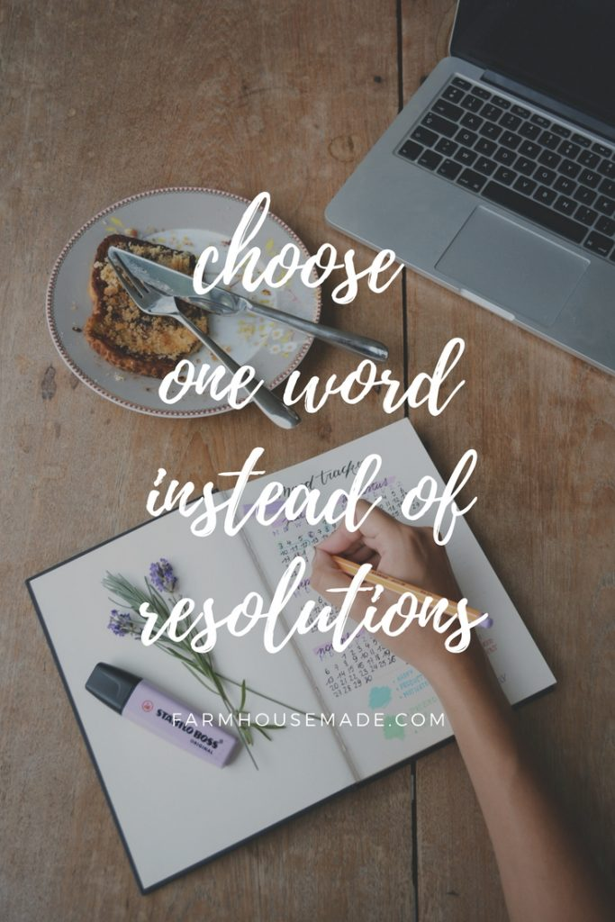 Are y'all resolution makers, goal setters? I'm becoming a one word chooser, and I think you should give it a try too! I don't need a reason to put added pressure on myself, or feel horrible about myself should I not meet my resolutions, but to strive to live up to one word, for a year, we got this!