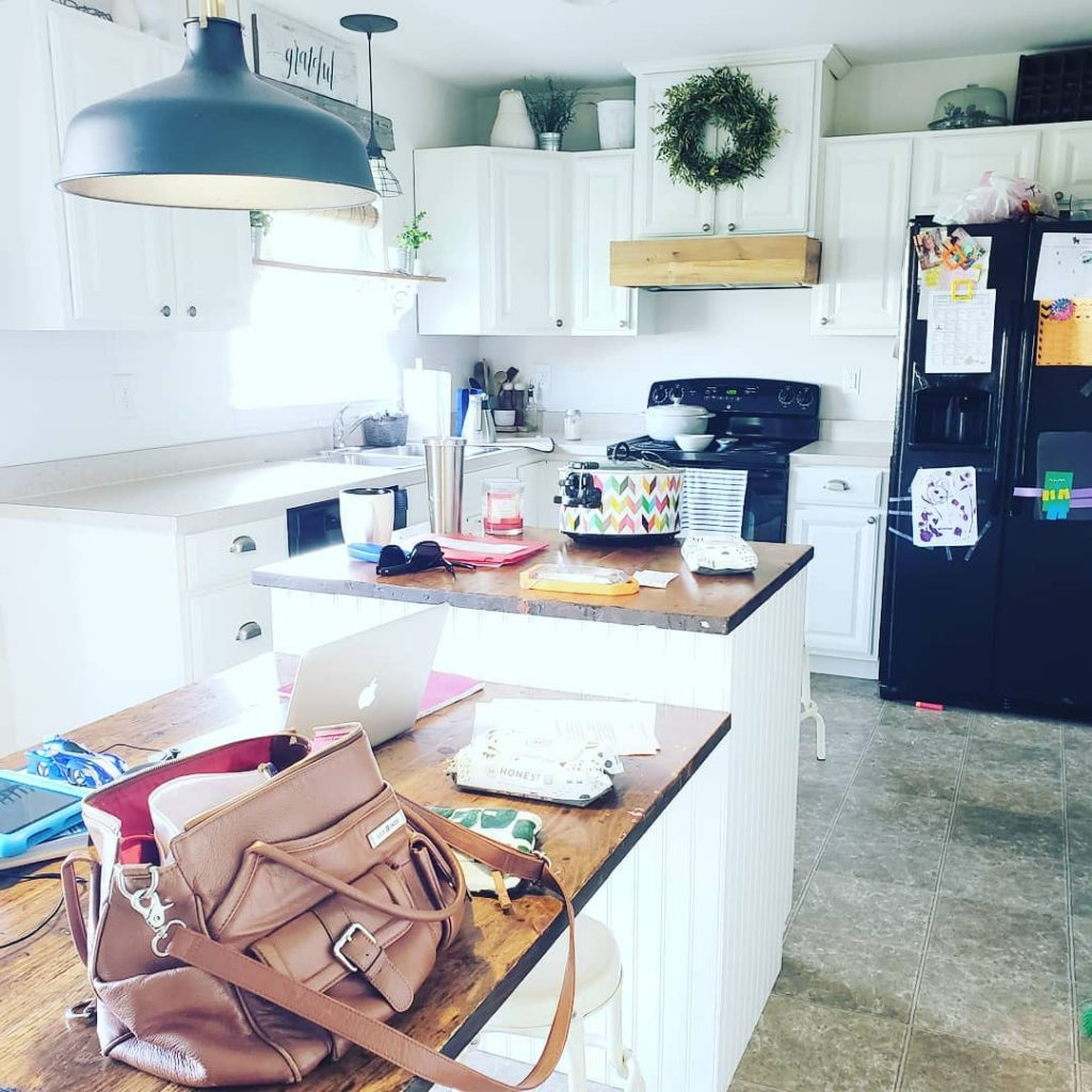 Instagram Cluttered Farmhouse Kitchen