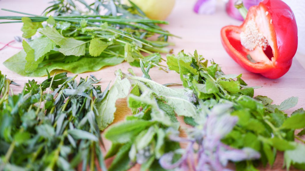 fresh herbs for vegetable soup