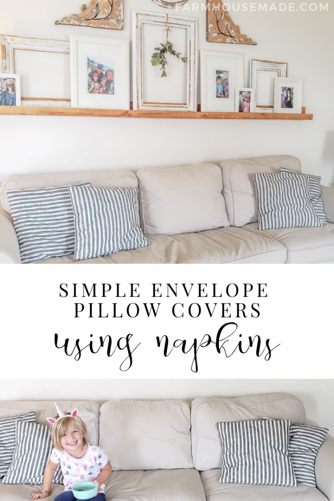 Pinterest - Farmhouse Pillow Cover DIY