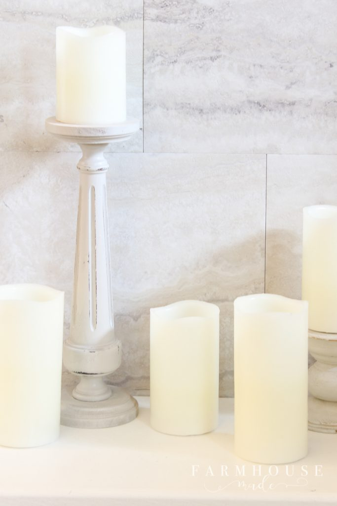 diy candlestick from a table leg