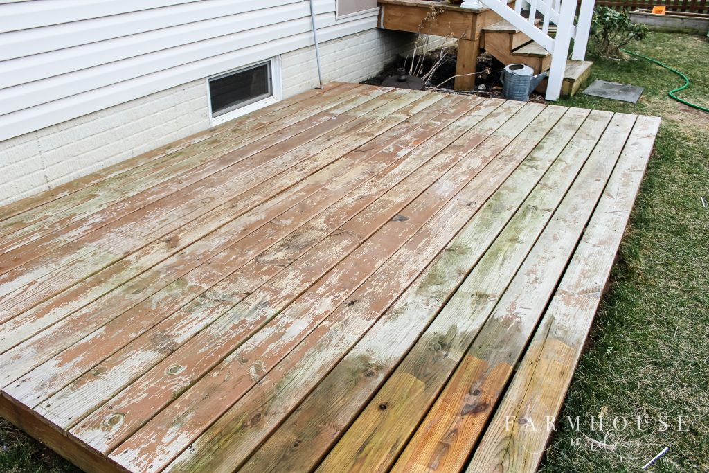 Gross deck before power washing