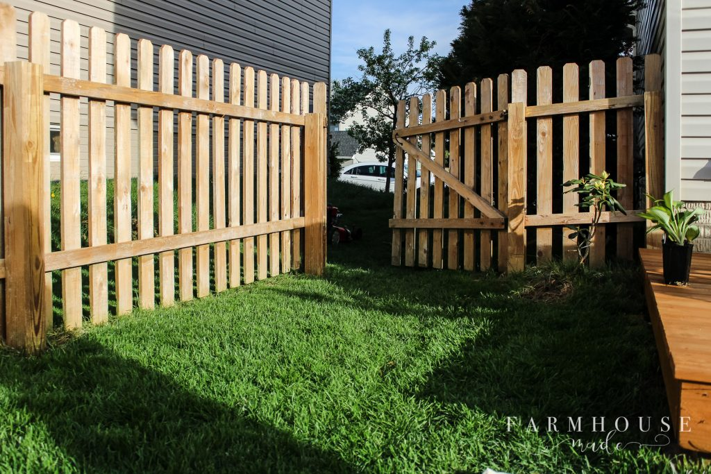 fence ready for stain