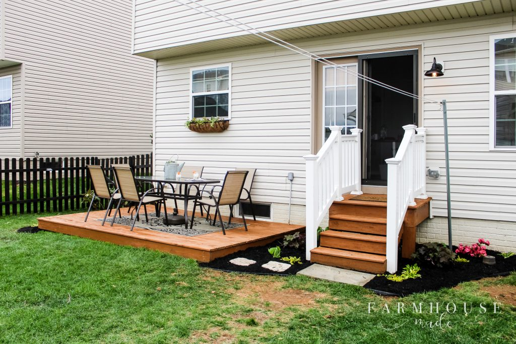 deck stain farmhouse yard