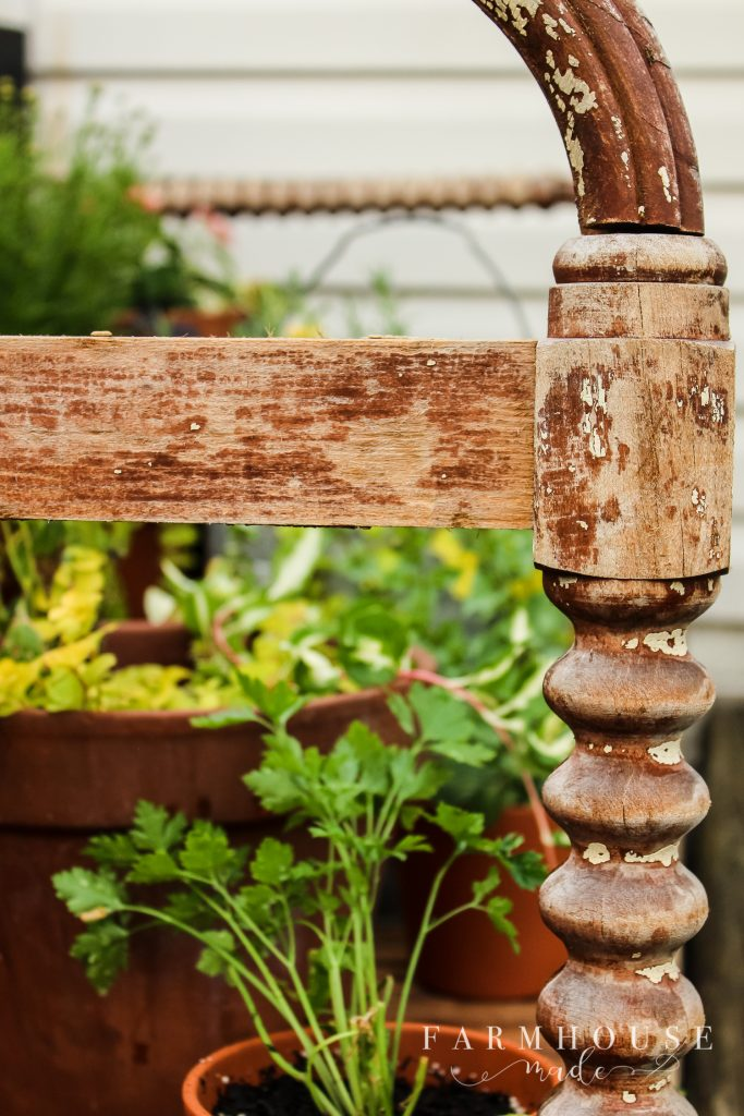herb garden salvage crib
