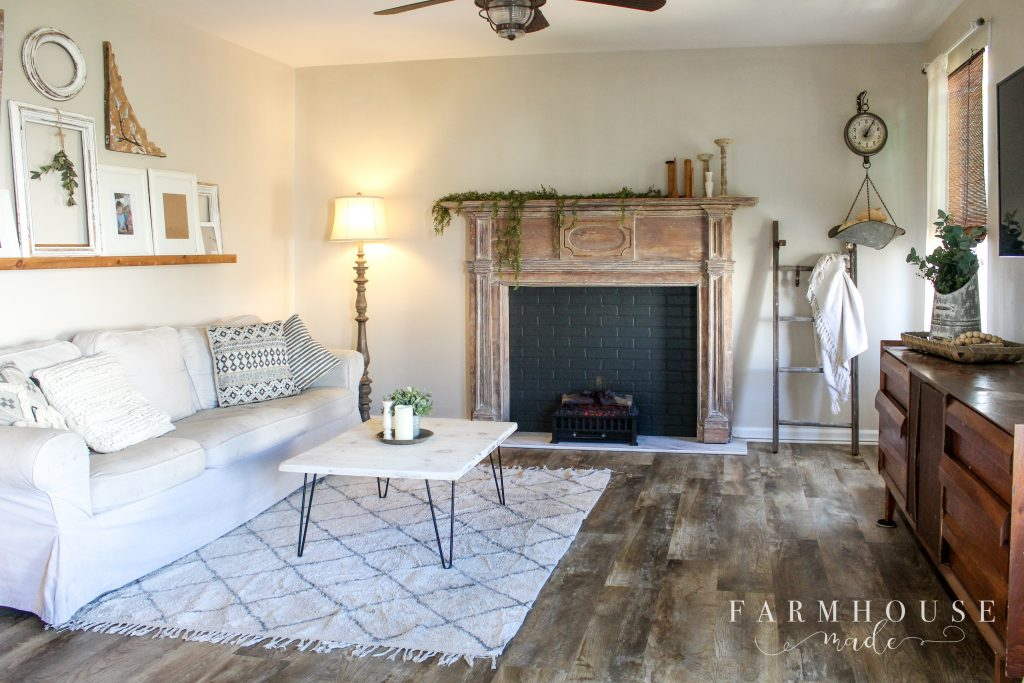 Fireplace Mantle paint strip no chemicals